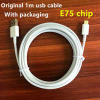 500Pcs/lot 1m E75 Chip OD:3.0mm Data USB charger Cable With packaging