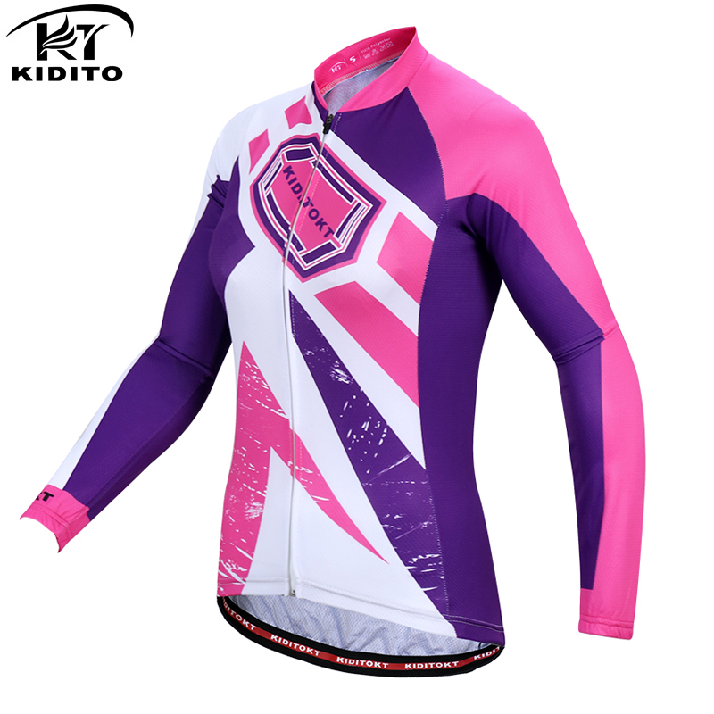 KIDITOKT Woman's Cycling Jerseys MTB Cycling Clothing Bicycle Uniform Ropa Maillot Ciclismo Sportswear Long Sleeve Bike Clothes