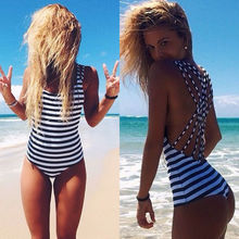 2016 Latest Sexy Women Bandage Bikini High Waist Swimsuit One Piece Monokini Beach Swimwear Women's Swimsuits Monokini