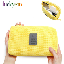 Korea Reise-Business-Digital-Empfang Tasche Multi-Funktions-Ladegerät Make-up Tasche tragbare Stromversorgung Kabel Finishing