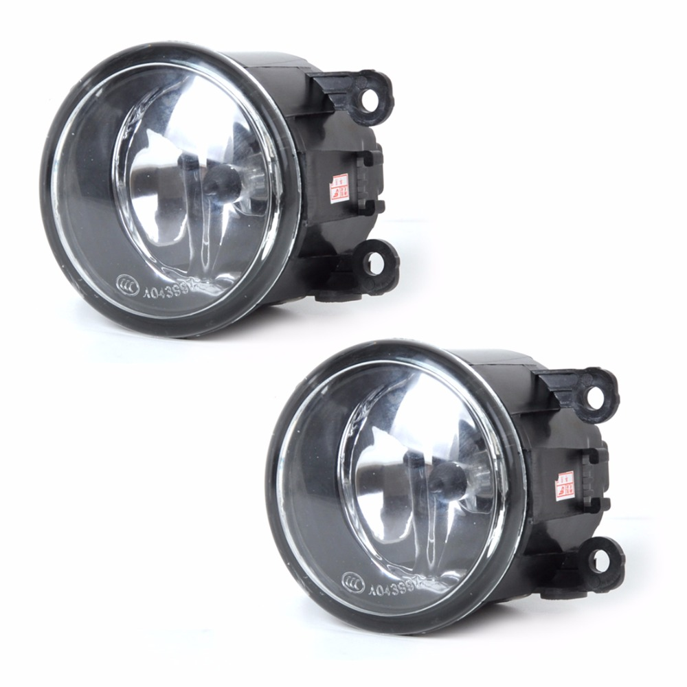 DWCX 2pcs Right + Left Fog Light Lamp + H11 Bulbs 55W For Acura Honda CRV Ford Focus Lincoln Jaguar Subaru Nissan Suzuki Swift dwcx 2pcs set right left fog light lamp with h11 halogen 55w bulb assembly for nissan murano rouge versa infiniti ex35 m37 q70