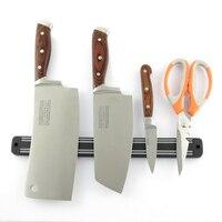 33 cm magnetyczny nóż nożycowy uchwyt narzędzia Chef Rack naścienny pasek BS w Uchwyty i stojaki od Dom i ogród na