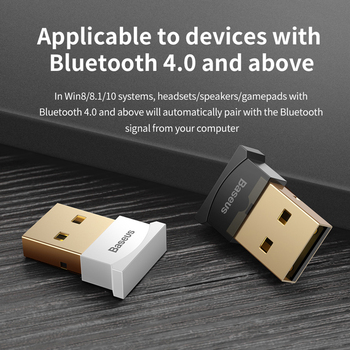 Baseus USB Bluetooth Adapter Dongle For Computer PC Mouse Keyboard Aux Bluetooth 4.0 4.2 Speaker Music Receiver Transmitter 5