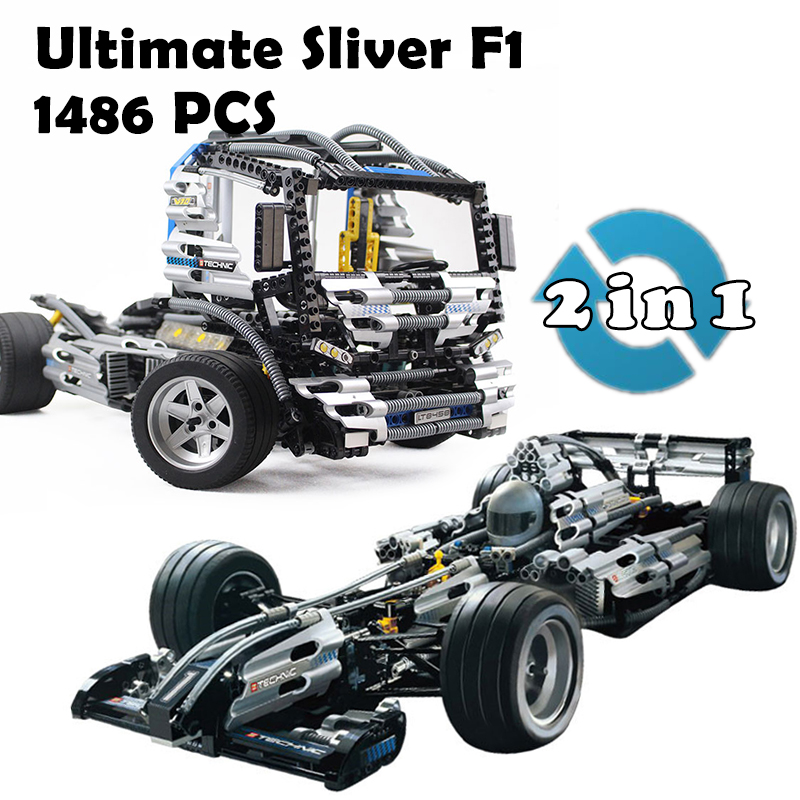 Model Building Blocks Compatible with lego Race The Ultimate Sliver Champion F1 Racing 8458 Educational Toys For Children lepin 20031 technic the jet racing aircraft 42066 building blocks model toys for children compatible with lego gift set kids