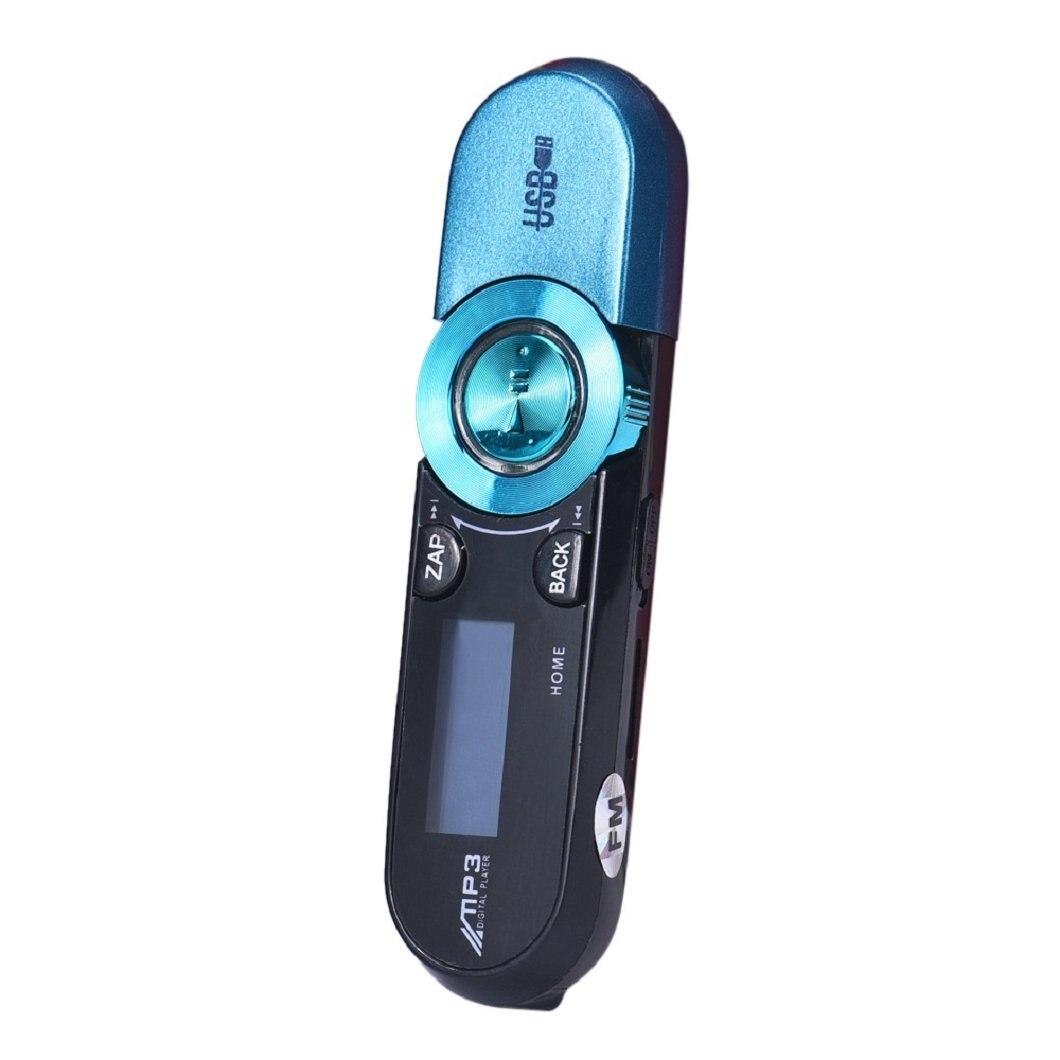 LCD Screen USB 16GB Flash support FM radio TF MP3 Music Player - blue