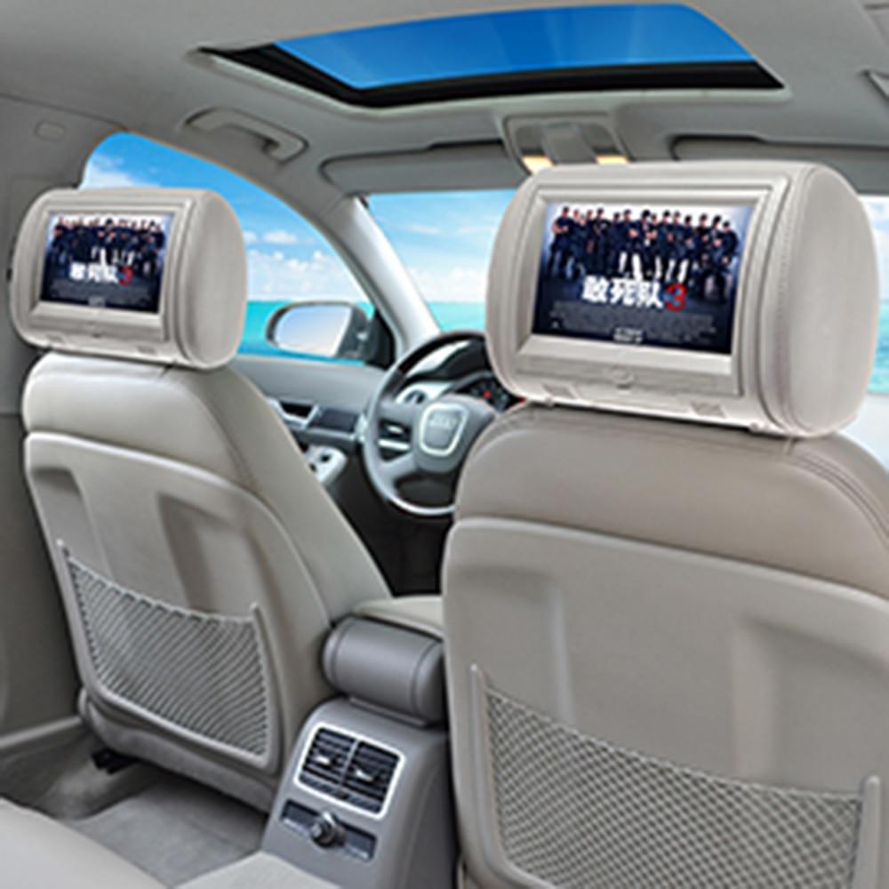 9 Inch Digital Screen Car Headrest Monitor Universal Automobile Headrest DVD Player With USB SD MP5 VCD CD MP3 MP4 JPEG TV 1 Pcs