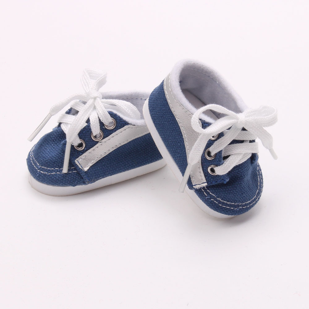 Doll shoes ,bue sport leisure doll shoes for 18 inch american girl doll for baby gift TX-23