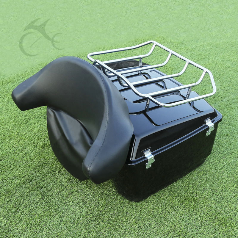 King Tour Pak Luggage Backrest For 97 13 For Harley HD Touring Road King Street Glide
