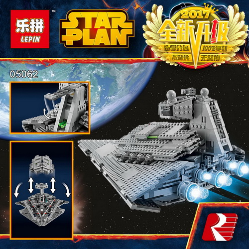 Lepin 05062 Star Series War legoing Super Star Fighting Destroyer Educational Building Blocks Bricks Compatible Toy Gift 75055 05028 star wars execytor super star destroyer model building kit mini block brick toy gift compatible 75055 tos lepin