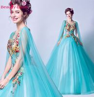Beauty Emily Ball Gown Ball Gown Quinceanera Dressess 2018 Celebration Occasion Party Prom Dresses See Through Prom Dress