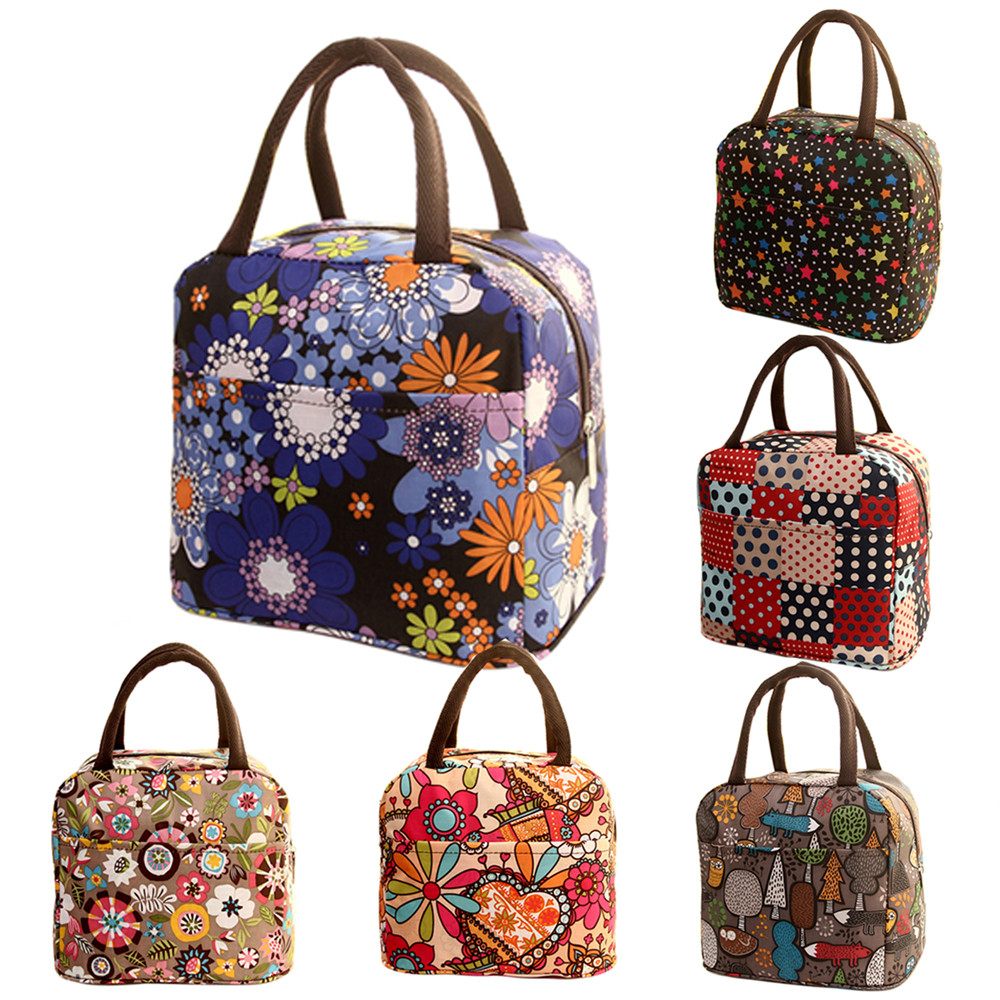 Women Lunch Bag Fashion Thermal Insulated Tote Student Picnic Lunch Bags Waterproof Handbag Pouch Thermal Insulated Tote #YL