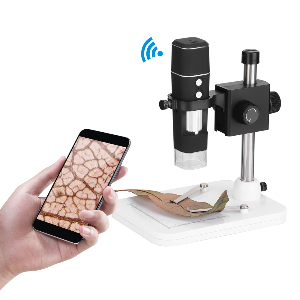 KKmoon 500X Wireless Wi-Fi Digital Microscope Zoom 1.0MP Camera Magnifier 8-LED Light microscopio for iOS/Android Phone Tablet 50 200x wifi microscope for android