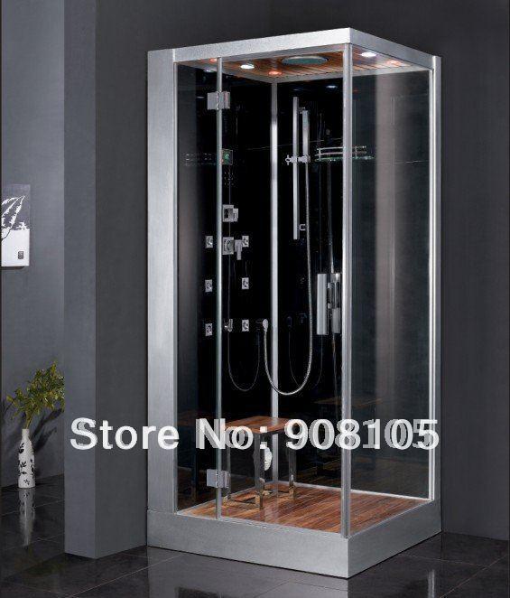 2016 Luxury tempered back panel sliding doors jetted walking in steam sauna bathroom shower house enclosure cabin design CE ETL