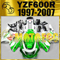 Motoegg ABS Fairing Fit YZF 600R 1997-2007 97-07 Thundercat Green White Y60M24  Motorcycle plastic