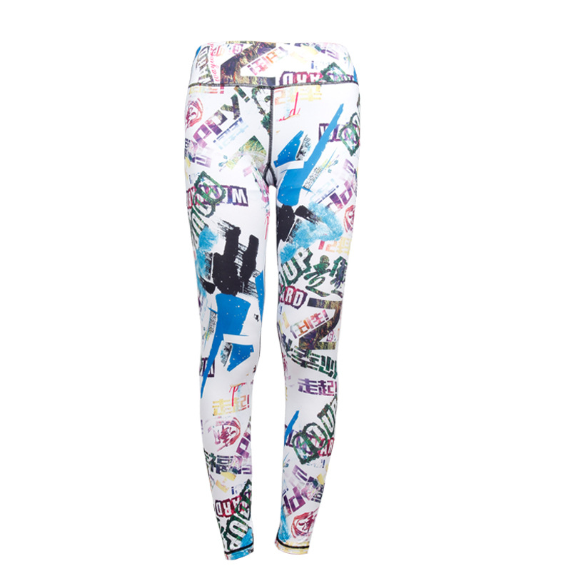 Fashion New Woman Digital Printing Personalized Treadmill Exercise Stretch Pants Dance Workout Sport Gym Fitness Leggings