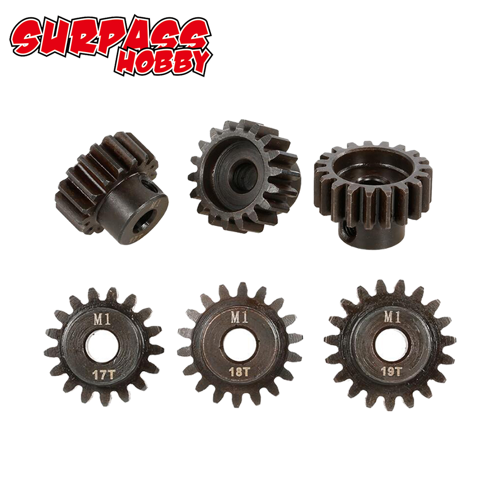 Image 2 - SURPASSHOBBY 3Pcs M1 5mm 11T 13T/14T 16T/17T 19T/20T 22T Pinion Motor Gear for 1/8 RC Buggy Car Monster Truck-in Parts & Accessories from Toys & Hobbies