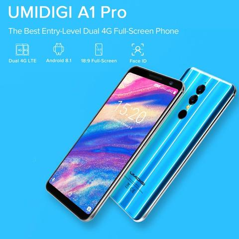 UMIDIGI A1 PRO 5.5 Inch Dual 4G Android 8.1 Smartphone MTK6739 1.5GHz Quad Core 3GB + 16GB Triple Cameras Facial Recognition Islamabad