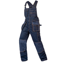 Bib overalls men work coveralls multi functional pockets repairman strap jumpsuits pants wear resistance working uniforms