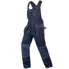 Bib overalls men work coveralls multi-functional pockets repairman strap jumpsuits pants wear-resistance working uniforms(China)