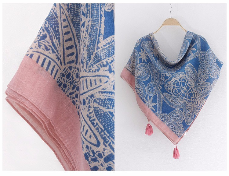 Four Tassels Bamboo Scarf | Shawls and Wraps