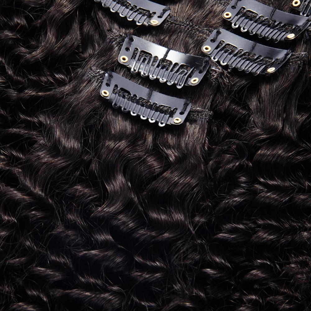Rechoo African American Kinky Curly Clip Në Zgjatjet e Flokëve Jo - Flokët e njeriut (të bardha) - Foto 5