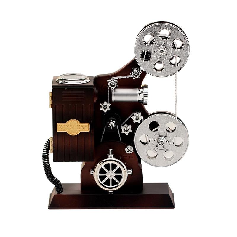 Creative Projector Music Box Vintage Jewelry Box Large Musical Box Home Carousel Hand Crank Music Box Mechanism Birthday Gifts