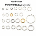 Gold Silver Link Loop  3 4 5 6 7 8 10 12 14 16 mm Open Jump Ring for DIY Jewelry Making Necklace Bracelet Findings Connector