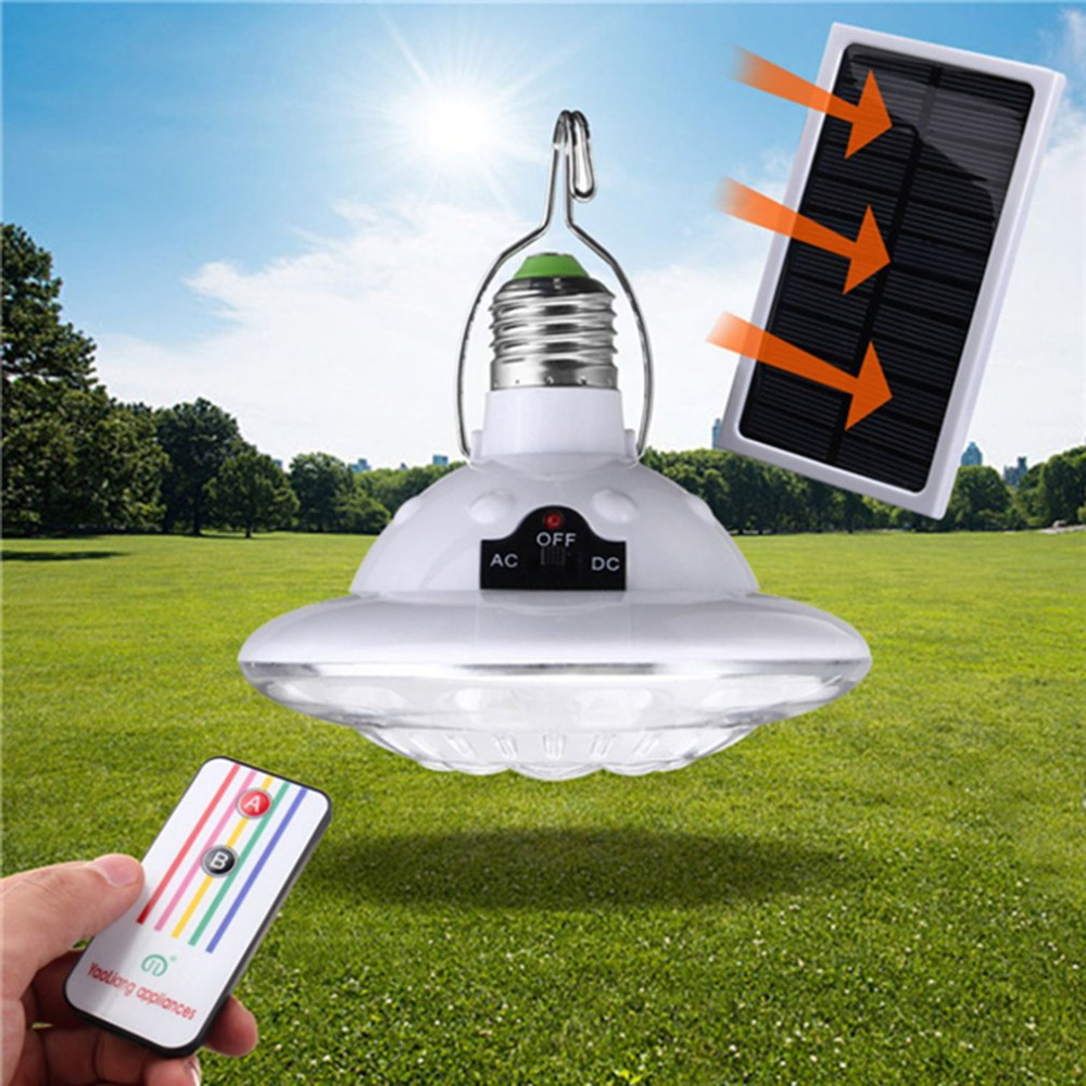 ICOCO Outdoor Indoor Solar Powered Light with Hook Tent Lamp Remote Control Brightness for Camping Hiking Pathways Yard Garden