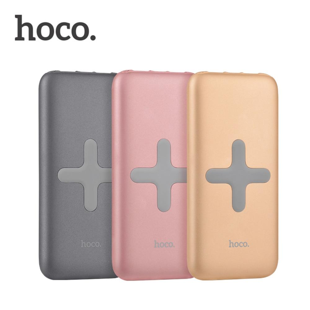 imágenes para HOCO 8000 mAh External Banco de La Energía de Carga Inalámbrica Cargador de Carga Rápida USB Portátil Batería de Reserva Para El Teléfono Del Moblie