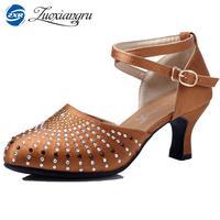 Hot Adult Latin Dance Shoes Woman Ballroom Tango Salsa Dancing Shoes For Ladies Black High Heeled