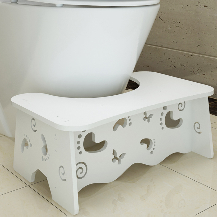 Bench Potty Toilet-Stool Commode Bathroom-Supplies Step Non-Slip Constipation Squatty