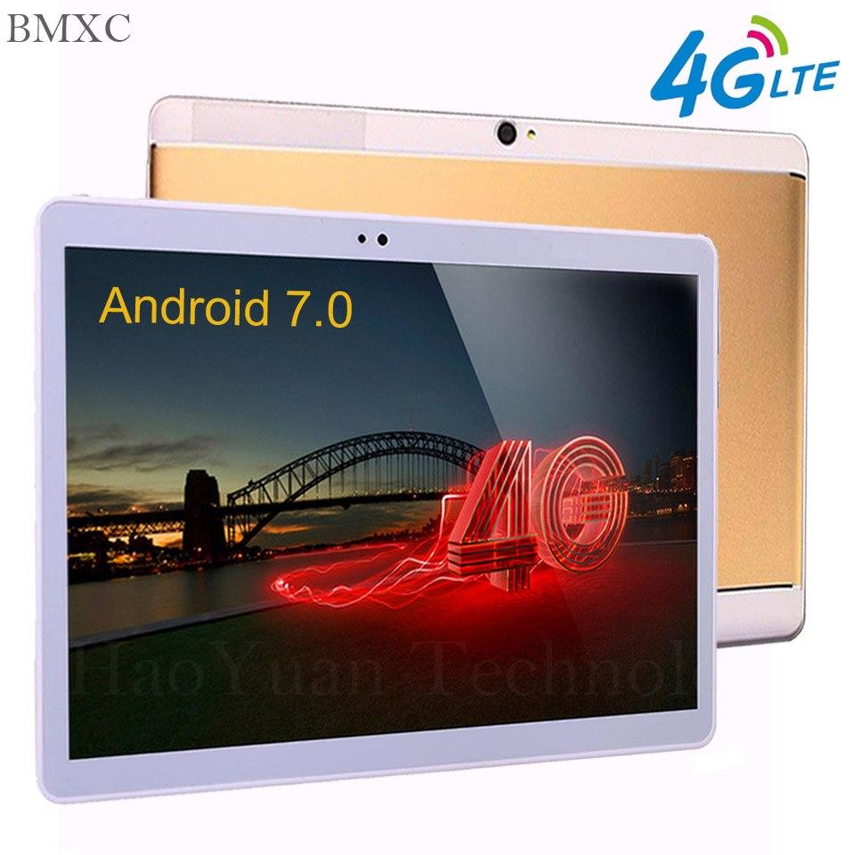 2018 Google 10 pouce tablet PC Android 7.0 tablet 3g 4g LTE Octa \ 10 Core 4 gb RAM 64 gb ROM 1920*1200 IPS Enfants Cadeau Comprimés 10.1