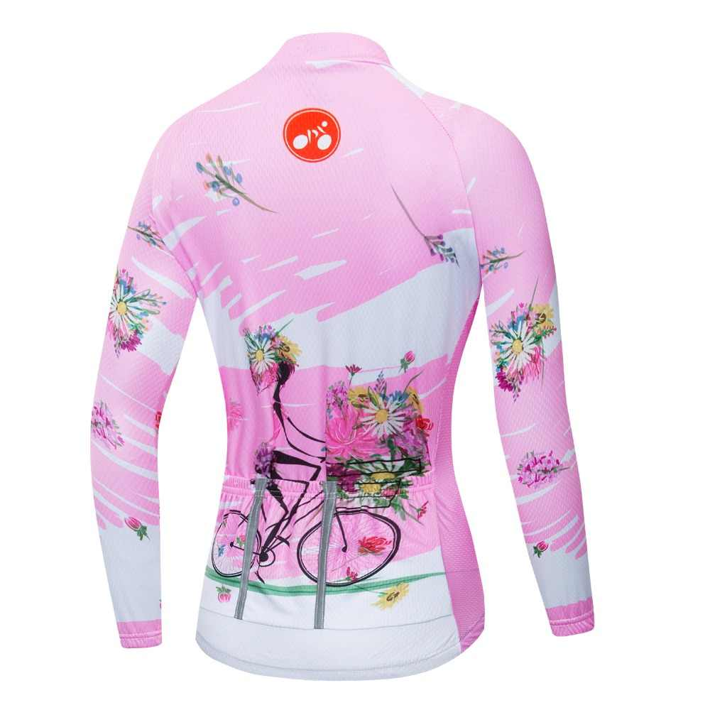 2019 велосипедная майка женская велосипедная майка с длинным рукавом MTB Топ Майо для верховой езды Топ для шоссейных горных видов спорта рубашка для гонок синий розовый