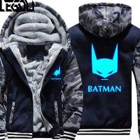USA GRÖßE Unisex Super Hero Batman Hoodies Mantel Winter Fleece Verdicken Leucht Sweatshirts Jacke Männer Hoodies