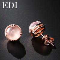 EDI 7mm Natural Rose Quartz 925 Sterling Silver Plated White Gold Powder Crystal Sterling Silver Jewelry