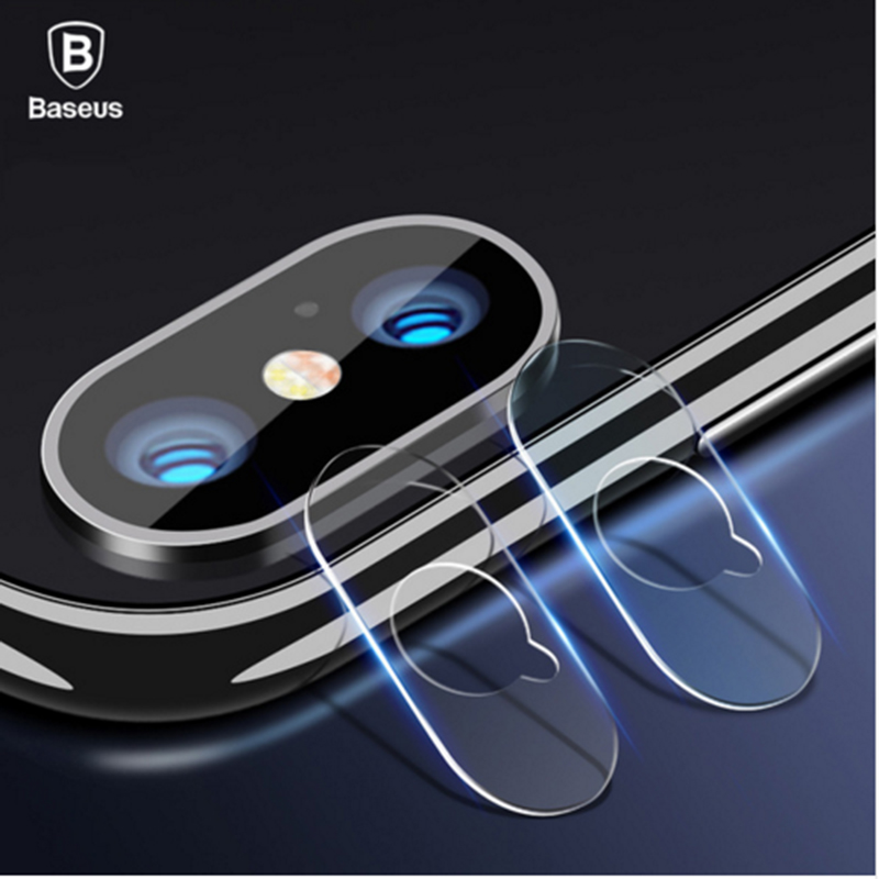 Baseus 2 pcs 0.15mm 9H Camera Lens Tempered Glass Film Protector For iPhone X Len Glass For iPhoneX Back Lens Protection Film