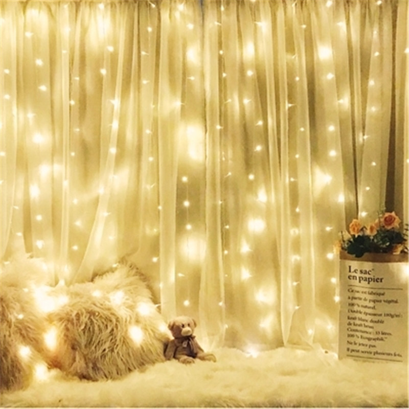 Fairy Lantern String Light LED Star Curtain Festoon Lamp Garden Indoor Outdoor Lamp Holiday Wedding Christmas Tree Garland Decor star decor rod pocket sheer curtain 1pc