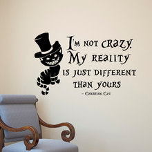 Alice In Wonderland Wall Sticker Cat Quotes Vinyl Decals Room Wall Art Decoration DIY Home Decor