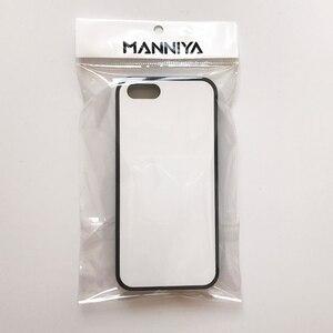 Image 4 - MANNIYA 2D di Sublimazione In Bianco gomma di TPU + Cassa Del PC per iphone 5/5S/SE CON Inserti in alluminio E colla Trasporto Libero! 100 pz/lotto