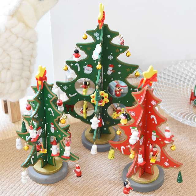 diy christmas tree small pine tree mini trees placed in the desktop home christmas decoration kids