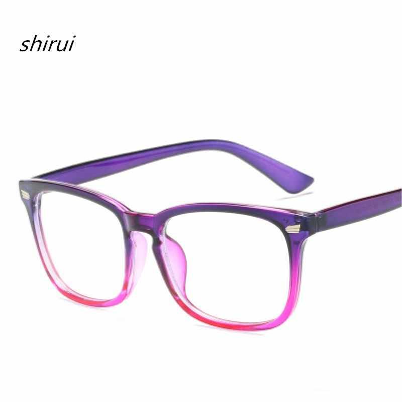 23b11887388 Retro Rectangle Eyewear Clear Glasses Spectacles Optical Eye Glasses Frames  For Women Transparent Eyeglasses Frame Fake
