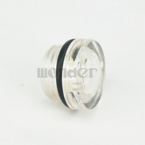 LOT 10 M16 X 1.5mm Metric Male Plastic Oil Level Sight Glass Window Round Head For Air Compressor Gearbox