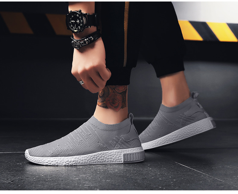 HTB1b7ptzgmTBuNjy1Xbq6yMrVXa1 Thin Shoes For Summer White Shoes Men Sneakers Teen Shoes Without Lace Trend 2019 New Feel Socks Shoes tenis masculino chaussure