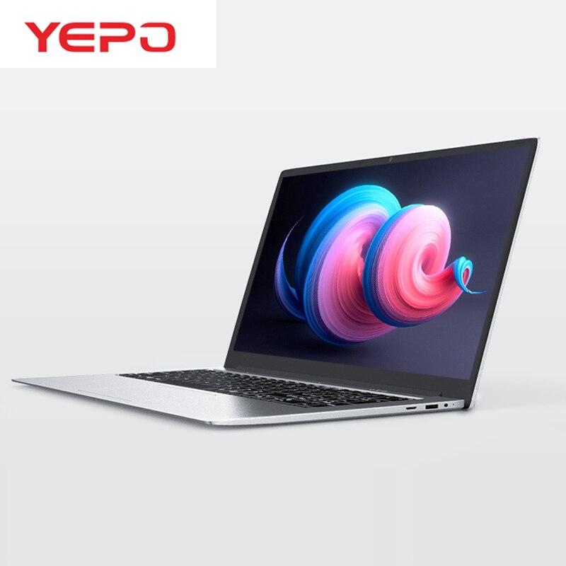 YEPO UM Laptop 15.6 polegada 6 GB RAM 64/128/256/512 GB SSD ou 1 TB HDD Quad Core J3455 Notebook Ultrabook Computador Com LED Exibição FHD
