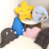 New Cotton Star Moon Stuffed Toys Soft Cloud Pillow Kids Sleeping Soothing Doll Creative Birthday Gift