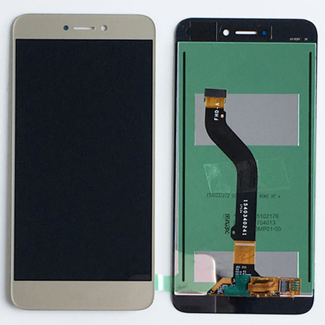 Gold LCD Glass Display Touch Screen Digitizer Assembly For Huawei P8 Lite 2017 PRA-LX1