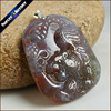 Real Hand Carved Tiger Natural Indian Agates Stone Lucky Amulet Pendant Beads Necklace For Women Men