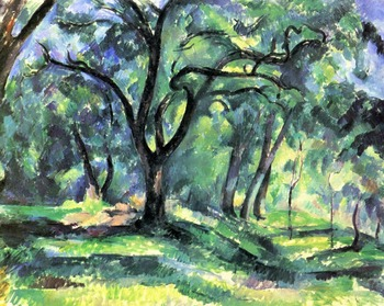 100% hand made Oil Painting Reproduction on linen canvas,landscape oil painting,forest by paul Cezanne,canvas oil painting