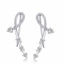 Лидер продаж 925 серебро Геометрическая Циркон Серьги Модные украшения brincos для Для женщин