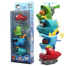 4 sztuk/zestaw Octonauts rysunek zabawki Octonauts samochód kapitan Barnacles Kwazi dziecko dzieci świąteczny prezent